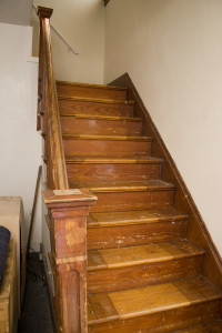 Before picture of the staircase